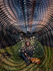 Calling the Spirit of the Eagle 2015 (digital photomontage)