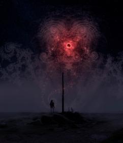 Blood Moon 2016 (digital photomontage)