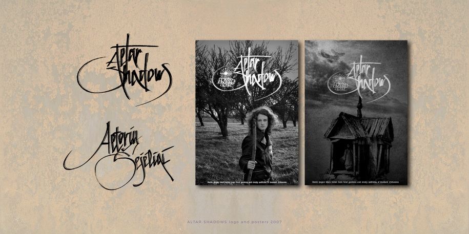 Altar Shadows logos and posters 2007