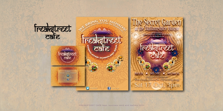 Freak Street Cafe logo and leaflets 2015