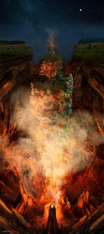 Cave Ritual 2018 (digital photomontage)